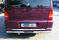 Накладки на задний бампер Mercedes Vito W638 (1996-2003) (нерж.) Матированный Omsa