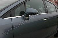 Нижние молдинги стекол Citroen C4 HB 5D (2005-2010) (нерж.) 8 шт