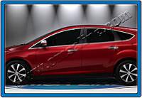 Верхние молдинги стекол Ford Focus 5D,3D (2011-) (нерж.) 8 шт