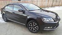Дефлекторы окон, ветровики Volkswagen PASSAT B7 седан 2011- темный SIM