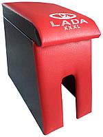 Подлокотник Лада Maxi с вышивкой красный