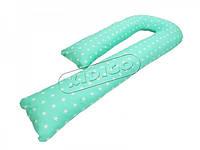 *Подушка для беременных KIDIGO J - образная Звездочки (с наволочкой)