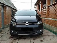Дефлектор капота, мухобойка Volkswagen Touran 2010- VIP