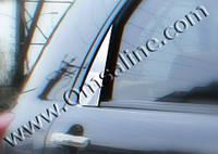 Накладка на стекло-косынку (уголок) Daihatsu Terios (2006+) 2 шт, нерж. Omsa