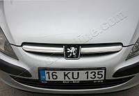 Защита переднего бампера Peugeot 307 HB 5D, 3D (2006-2008) нерж. Omsa