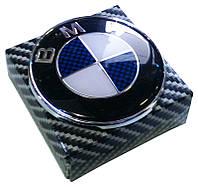 Эмблема BMW 74 мм выс. качества карбон синий