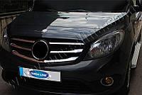 Накладки на решетку радиатора Mercedes Citan (2013-) (нерж.) 5 шт