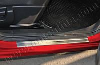 Накладки на пороги Nissan Juke (2010-) (нерж.) 2 шт.