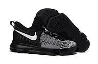 Мужские баскетбольные кроссовки Nike KD9 Black/White