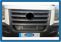 Защита переднего бампера Volkswagen Crafter (2006-2011) нерж. Omsa