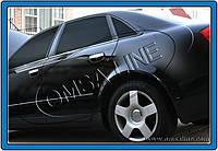 Нижние молдинги стекол Audi A4 (2004-2007) (нерж.) 6 шт Omsa