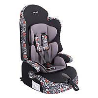Детское авто кресло SIGER ART Прайм ISOFIX алфавит, 1-12 лет, 9-36 кг, группа 1-2-3
