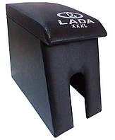 Подлокотник Лада Maxi с вышивкой черный