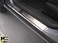 Накладки на пороги Opel Astra III H 4, 5D 2004-2009 Nataniko Premium
