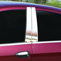 Молдинги дверных стоек Fiat Linea (2007-2011) (нерж.) 6 шт.
