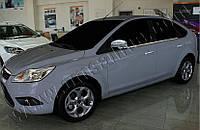 Нижние молдинги стекол Ford Focus FL 5D,SD,SW (2008-2011) (нерж.) 4 шт