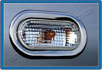 Окантовка повторителей поворота Volkswagen Lupo HB 3D (1998-2005) 2 шт. (нерж.) Omsa