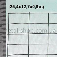 Сетка сварная 25,4х12,7х0,9 оцинкованная (цинк 35 г/м2)