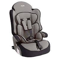 Детское авто кресло SIGER ПРАЙМ Изофикс группа 1-2-3 (серый)
