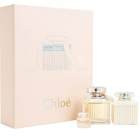 Набор Chloe Chloe Eau de Parfum (парфюмированная вода 50мл+миниатюра аромата 5мл+лосьйон д/тела 100мл)