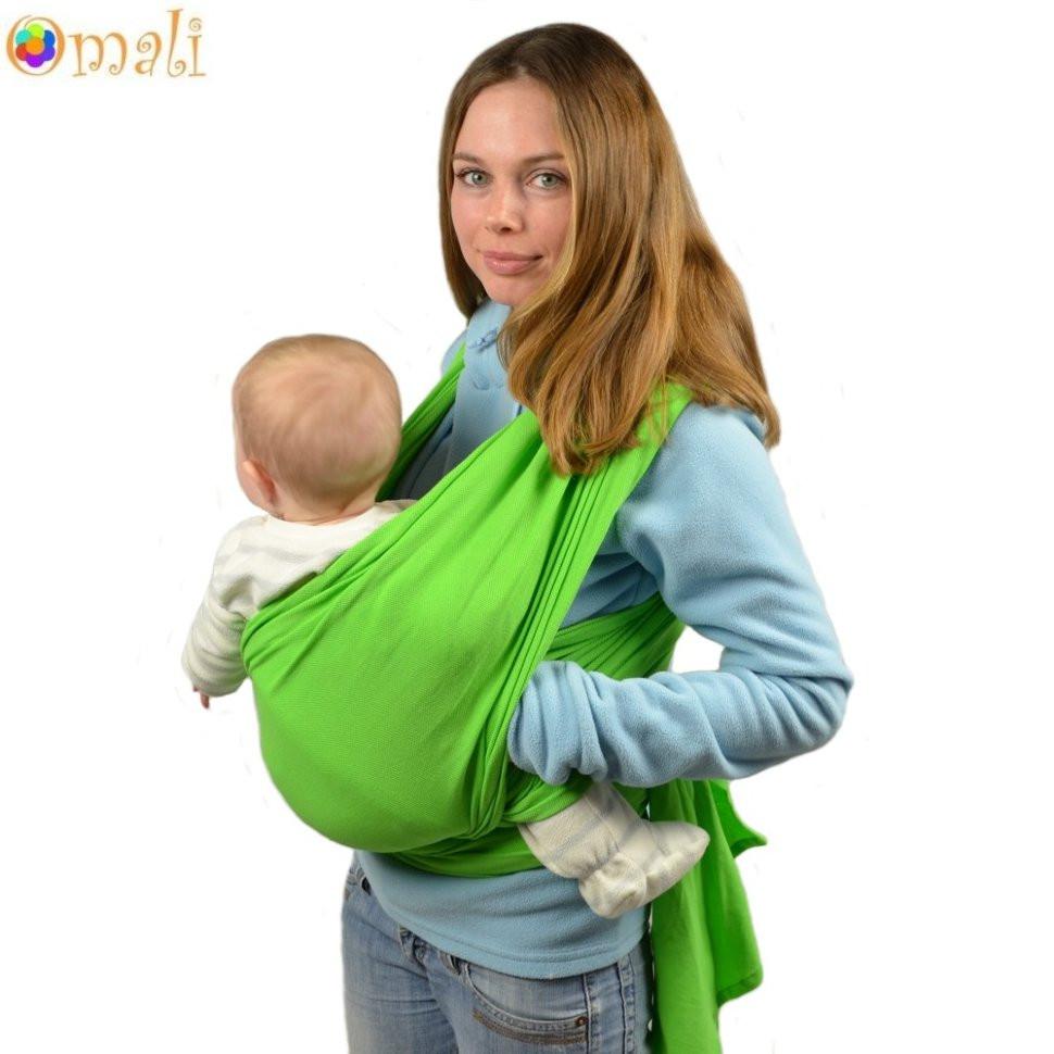 Трикотажный слинг-шарф, Omali Зеленый