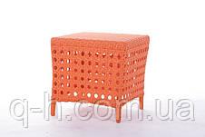 Мягкий плетеный пуфик из искусственного ротанга Weik, фото 3