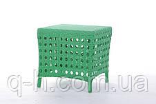 Мягкий плетеный пуфик из искусственного ротанга Weik, фото 2