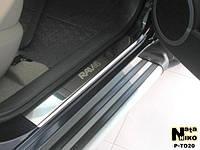 Накладки на пороги Toyota Rav-4 III 2006- Nataniko Premium