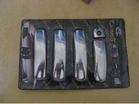 Накладки на ручки Audi A3, A4, A6 (2001-2007) (4 шт.) нерж. Carmos