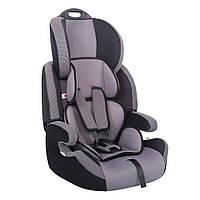 Детское авто кресло SIGER Стар серый, 1-12 лет, 9-36 кг, группа 1-2-3
