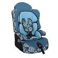 Детское авто кресло SIGER ART Прайм ISOFIX геометрия, 1-12 лет, 9-36 кг, группа 1-2-3