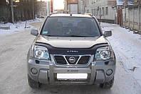 Дефлектор капота, мухобойка Nissan X-Trail с 2001-2006 г.в.кузов Т-30 VIP