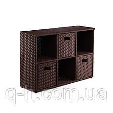 ПЛЕТЕНЫЙ КОМОД-ШКАФ ИЗ ИСКУССТВЕННОГО РОТАНГА LEGO, фото 2