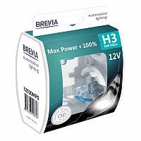 Автолампы Brevia H3 55w Max Power +100% 2шт 12030MPS