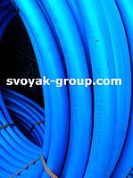 Труба полиэтиленовая синяя (пищевая)  25 мм. 10 атм.