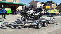 Прицеп для перевозки мотоциклов и квадроциклов 3,1м х 1,8м. Цинк. Без тормозов.