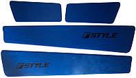 Вставки в двери ВАЗ 2108 синие