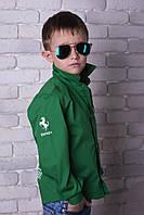 Стильная рубашка на мальчика, 116 - 152 см. Детская, подростковая рубашка, коттон.