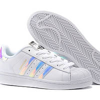 Распродажа кроссовки подростковые Adidas superstar с перламутром 41 размер