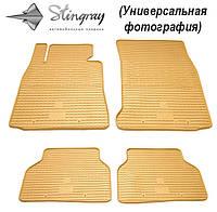 Коврики резиновые HYUNDAI Santa Fe 13- бежевые Stingray