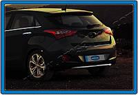 Накладка на задний бампер Hyundai i30 HB 5D 2012- (нерж.) Omsa