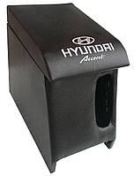 Подлокотник Hundai Accent 2006-2011 с вышивкой черный