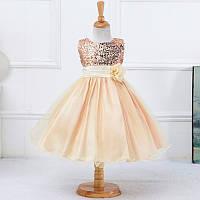 Платье С шифоном 4 года Бежевое 54545 COCKCON Китай