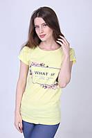 Яркая желтая женская футболка