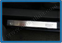 Накладки на пороги Peugeot 207 Coupe (2006-2012) (нерж.) 4 шт.