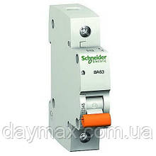 Автоматичний вимикач однополюсний Schneider electric 11201 ВА63 1Р 6А, Домовик