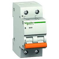 Автоматический выключатель Schneider electric 11211 ВА63 1Р+N 6А, Домовой
