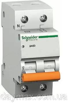 Автоматичний вимикач Schneider electric 11215 ВА63 1Р+N 25А, Домовик