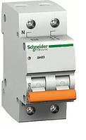 Автоматический выключатель двухполюсный Schneider electric 11213 ВА63 1Р+N 16А, Домовой