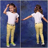 Весенние детские цветные джинсы